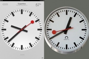swiss railway clock - ios 6